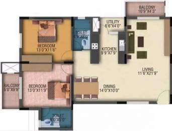 1315 sqft, 2 bhk Apartment in Veracious Vani Villas Yelahanka, Bangalore at Rs. 23000