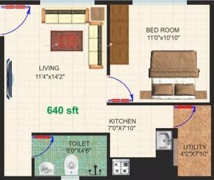 640 sqft, 1 bhk Apartment in Dhiraan Newyork Meadows Chandapura, Bangalore at Rs. 13.8600 Lacs