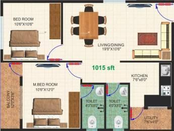1015 sqft, 2 bhk Apartment in Dhiraan Newyork Meadows Chandapura, Bangalore at Rs. 22.3300 Lacs