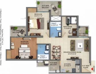 1197 sqft, 2 bhk Apartment in JM Florence Techzone 4, Greater Noida at Rs. 36.0000 Lacs