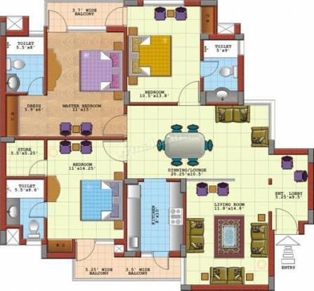 1720 sqft, 3 bhk Apartment in Sandwoods Spangle Condos Dhakoli, Zirakpur at Rs. 53.0000 Lacs