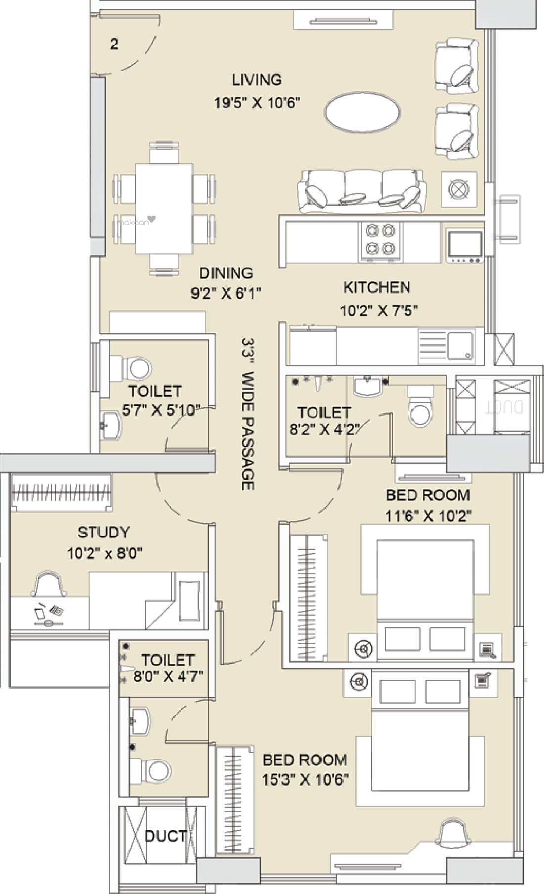 4050 sq ft 4BHK 4BHK+4T (4,050 sq ft) Property By Proptiger In Magnificia, Mahadevapura