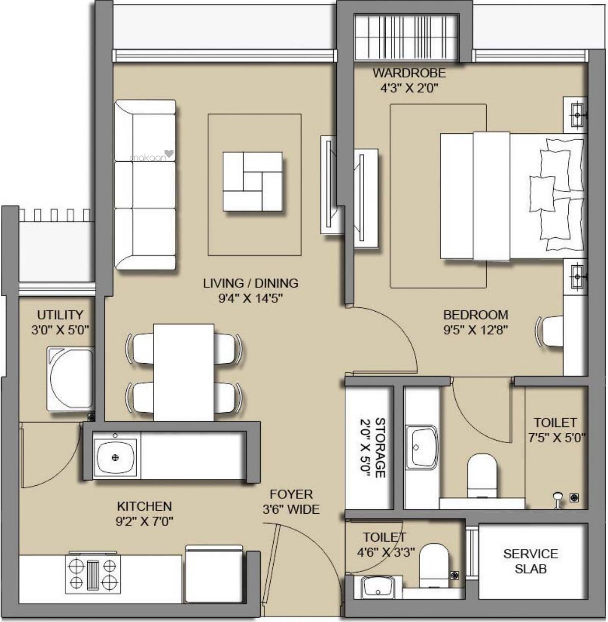 sq ft 4BHK 4BHK+4T (868.00 sq ft) Property By Proptiger In Melange Residences Phase I, Hinjewadi
