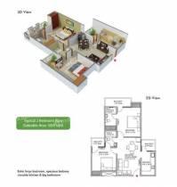 1,000 sq ft 2 BHK + 2T Apartment in Builder The Essentia