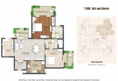 2 BHK Residential Apartment available for Sale
