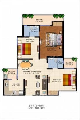 1295 sqft, 3 bhk Apartment in Ajnara Panorama Sector 25 Yamuna Express Way, Noida at Rs. 36.6485 Lacs