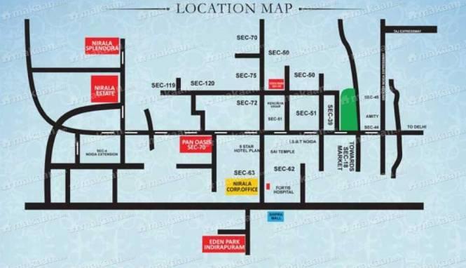 1080 sqft, 2 bhk Apartment in Nirala Estate Techzone 4, Greater Noida at Rs. 37.2600 Lacs