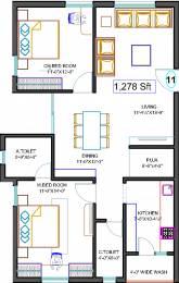1278 sqft, 2 bhk Apartment in Hallmark Tranquil Manikonda, Hyderabad at Rs. 0