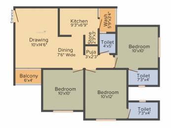 1301 sqft, 3 bhk Apartment in Aashray Arise Shilaj, Ahmedabad at Rs. 0