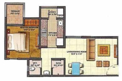 729 sqft, 1 bhk Apartment in Lodha Palava Lakeshore Greens Dombivali, Mumbai at Rs. 0
