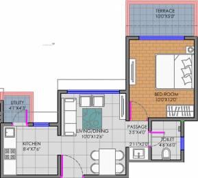 610 sqft, 1 bhk Apartment in Shree Balaji Ganga Newtown Phase I Dhanori, Pune at Rs. 0