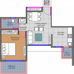 650 sqft, 1 bhk Apartment in Shree Balaji Ganga Newtown Phase I Dhanori, Pune at Rs. 0