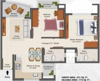 774 sqft, 2 bhk Apartment in TATA La Montana Talegaon Dabhade, Pune at Rs. 0