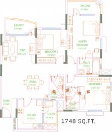 1748 sqft, 3 bhk Apartment in Purva Swanlake Kelambakkam, Chennai at Rs. 0