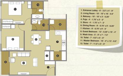 1425 sqft, 2 bhk Apartment in Pacifica Reflections Near Nirma University On SG Highway, Ahmedabad at Rs. 0