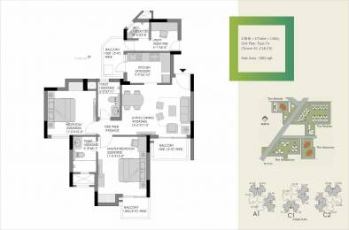 1283 sqft, 2 bhk Apartment in Experion The Heartsong Sector 108, Gurgaon at Rs. 0