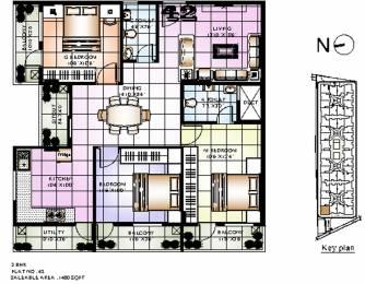 1420 sqft, 3 bhk Apartment in Sowparnika Sanvi Whitefield Hope Farm Junction, Bangalore at Rs. 0