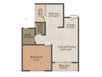 702 sqft, 1 bhk Apartment in SJR Palazza City Sarjapur Road Wipro To Railway Crossing, Bangalore at Rs. 0