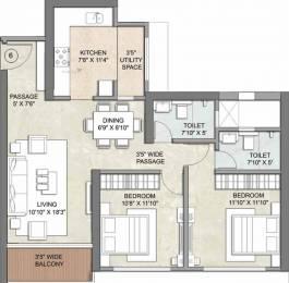 1420 sqft, 2 bhk Apartment in Kalpataru Radiance Goregaon West, Mumbai at Rs. 0