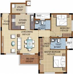 1273 sqft, 2 bhk Apartment in Purva Skydale Harlur, Bangalore at Rs. 0