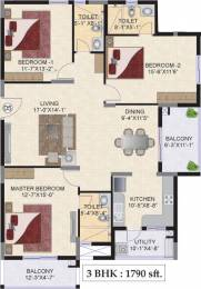 1790 sqft, 3 bhk Apartment in Mahindra Ashvita Kukatpally, Hyderabad at Rs. 0