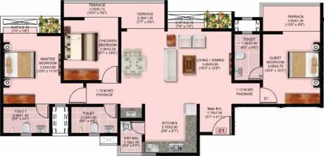 1021 sqft, 3 bhk Apartment in Puraniks Abitante Bavdhan, Pune at Rs. 0