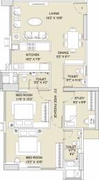 1411 sqft, 3 bhk Apartment in Sunteck City Avenue 2 Goregaon West, Mumbai at Rs. 0