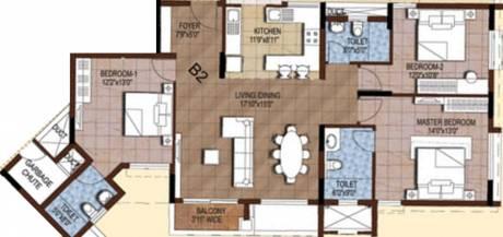1623 sqft, 3 bhk Apartment in Akshaya Tango Thoraipakkam OMR, Chennai at Rs. 0