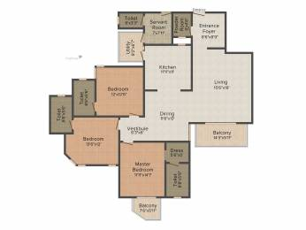 2550 sqft, 3 bhk Apartment in Adani Oyster Grande Sector 102, Gurgaon at Rs. 0