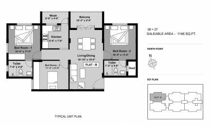 1146 sqft, 3 bhk Apartment in BBCL Ashraya Thoraipakkam OMR, Chennai at Rs. 0