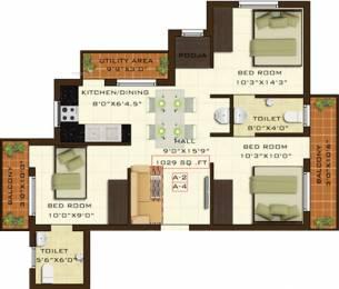 1029 sqft, 3 bhk Apartment in Fifth Xanadu Mogappair, Chennai at Rs. 0
