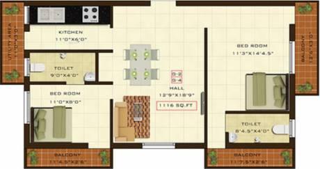 1116 sqft, 2 bhk Apartment in Fifth Xanadu Mogappair, Chennai at Rs. 0