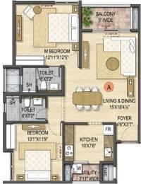 1135 sqft, 2 bhk Apartment in Olympia Opaline Sequel Navallur, Chennai at Rs. 0
