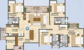 2,338 sq ft 4 BHK + 4T Apartment in Olympia Group Opaline Sequel