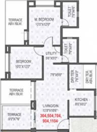 849 sqft, 2 bhk Apartment in Rama Krystal City Moshi, Pune at Rs. 0
