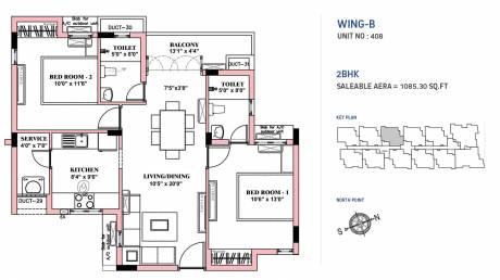 1085 sqft, 2 bhk Apartment in BBCL Nakshatra Perungudi, Chennai at Rs. 0