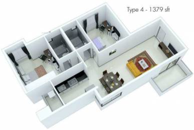 1379 sqft, 2 bhk Apartment in Fortius Waterscape KR Puram, Bangalore at Rs. 0