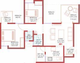 849 sq ft 2 BHK + 2T Apartment in Majestique Landmarks 38 Park Majestique