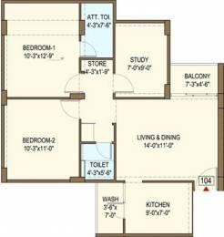 1220 sqft, 2 bhk Apartment in Bakeri Sarvesh Ranip, Ahmedabad at Rs. 0