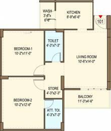 1020 sqft, 2 bhk Apartment in Bakeri Sarvesh Ranip, Ahmedabad at Rs. 0