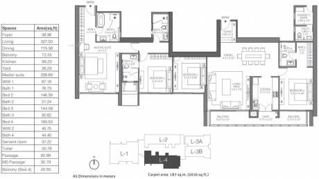 3044 sqft, 4 bhk Apartment in TATA 88 East Alipore, Kolkata at Rs. 0