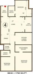 1795 sqft, 3 bhk Apartment in Bakeri Sivanta Vejalpur Gam, Ahmedabad at Rs. 0