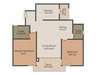 1300 sqft, 2 bhk Apartment in Shriram Southern Crest Kumaraswamy Layout, Bangalore at Rs. 0