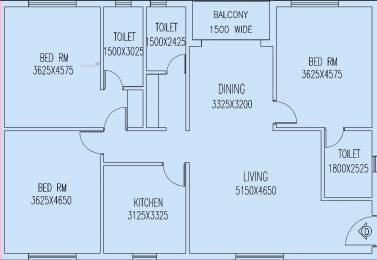2075 sqft, 3 bhk Apartment in Jain Dream One New Town, Kolkata at Rs. 0