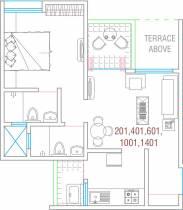 630 sq ft 1 BHK + 2T Apartment in Goel Ganga Fernhill Phase I