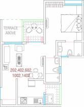635 sq ft 1 BHK + 2T Apartment in Goel Ganga Fernhill Phase I