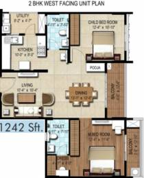 1242 sqft, 2 bhk Apartment in DSR Waterscape Horamavu, Bangalore at Rs. 0