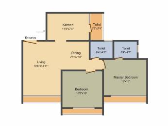 1115 sqft, 2 bhk Apartment in Gala Celestia Near Nirma University On SG Highway, Ahmedabad at Rs. 0