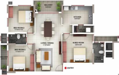 1518 sqft, 3 bhk Apartment in PBEL Siesta Thaiyur, Chennai at Rs. 0