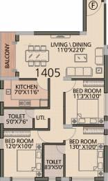 1405 sqft, 3 bhk Apartment in Diamond Navita Madhyamgram, Kolkata at Rs. 0